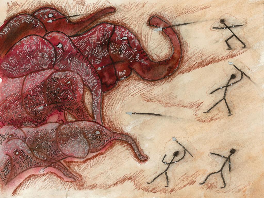 Elephants rouges